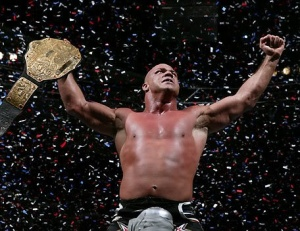 Kurt Angle wins the World Heavyweight Championship in Philadelphia