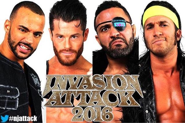 Matt Sydal & Ricochet vs. Beretta & Rocky Romero (Roppongi Vice) - NJPW Invasion