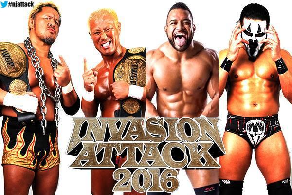 Tomoaki Honma & Togi Makabe (Great Bash Heel) vs. Tanga Roa & Tama Tonga (Guerrillas of Destiny) - NJPW Invasion