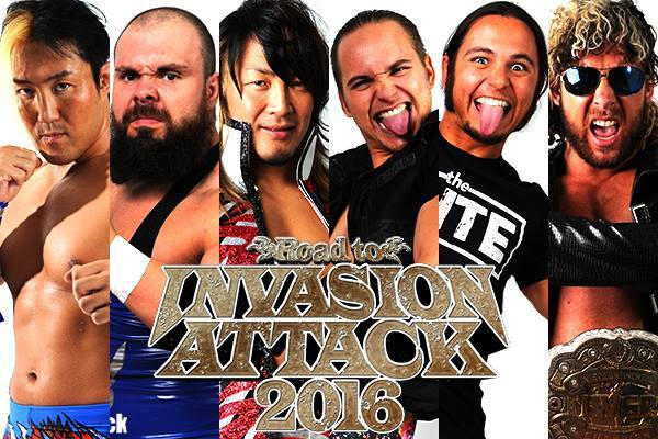 YOSHI TATSU, Michael Elgin & Hiroshi Tanahashi vs. Nick & Matt Jackson (The Young Bucks) & Kenny Omega (The Elite) - NJPW Invasion