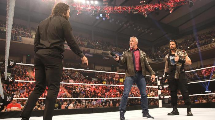 Seth Rollins Shane McMahon Roman Reigns